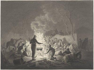 <i> Bivak van de Kozakken op de Varkenmarkt (Kennemerplein bij avond)1814</i>