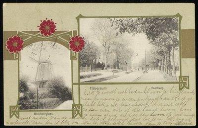 Rechts: Vaartweg, links Boomberglaan Hilversum.