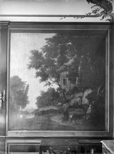 geschilderd behang achterzijde