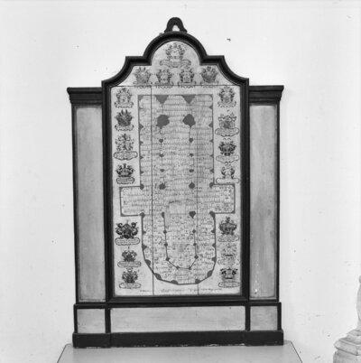 interieur, TEKENING PLATTEGROND VAN GRAVENPLAN (WILLEM TEN HAEGH, 1757)