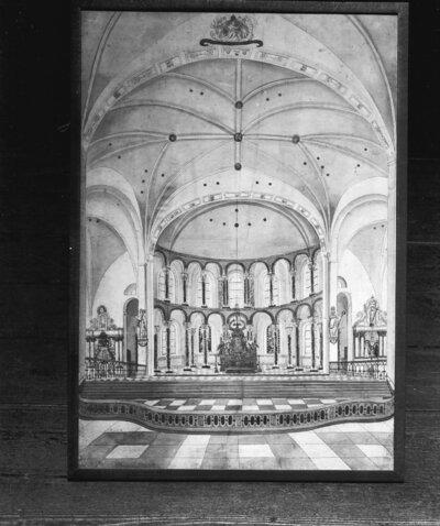 interieur koor ca. 1840