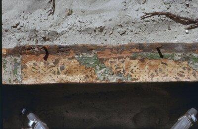 Interieur, beschildering strijkbalk