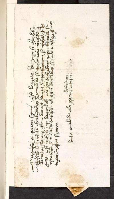 [Dopis guvernéra na Mletě-Melleda vládě 26. února 1441]