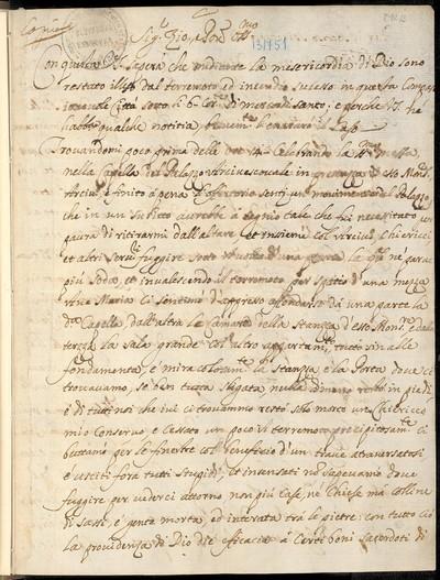 Copia della lerá de D. Biagio Nicolo Squadri