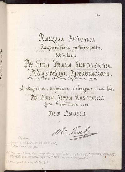 Raslika Pjevagnja Rasparsciana po Dubrovniku