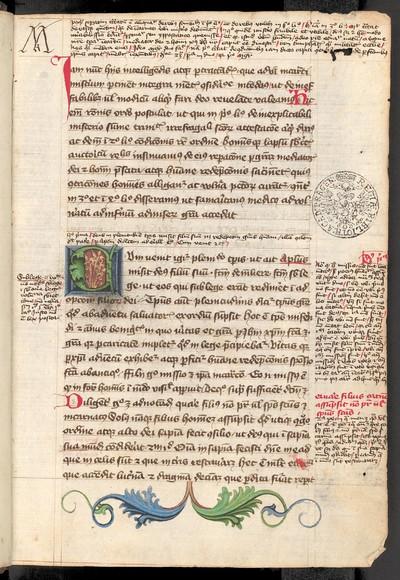 Petrus Lombardus: Sententiarum libri III et IV cum notis marginalibus et interlinearibus