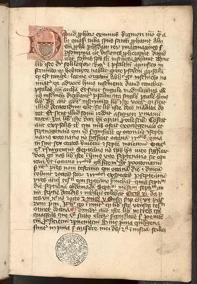 Hugo de Sancto Caro: Commentarius in Psalterium