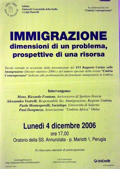 Immigrazione dimensioni di un problema, prospettive di una risorsa