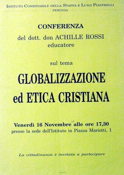 Globalizzazione ed etica cristiana