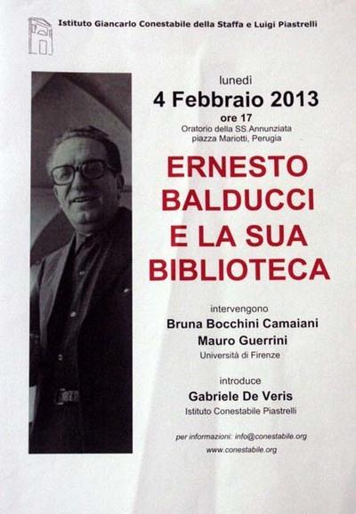 Ernesto Balducci e la sua biblioteca