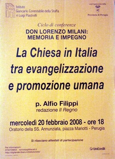 La Chiesa in Italia tra evangelizzazione e promozione umana