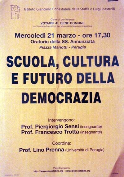 Scuola, cultura e futuro della democrazia