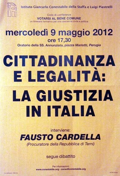 Cittadinanza e legalità: la giustizia in Italia