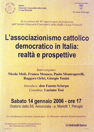 L'associazionismo cattolico democratico in Italia: realtà e prospettive
