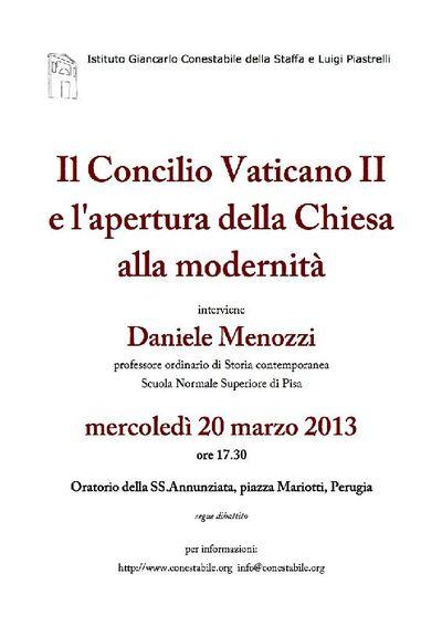 Il Concilio Vaticano II e l'apertura della Chiesa alla modernità