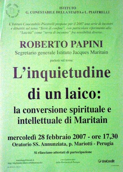 L'inquietudine di un laico: la conversione spirituale e intellettuale di Maritain
