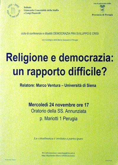 Religione e democrazia: un rapporto difficile?