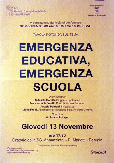 Emergenza educativa, emergenza scuola