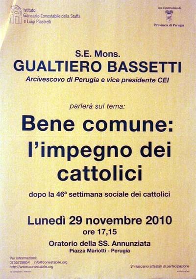 Bene comune: l'impegno dei cattolici