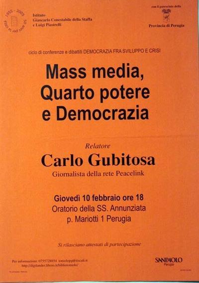 Mass media, quarto potere e democrazia
