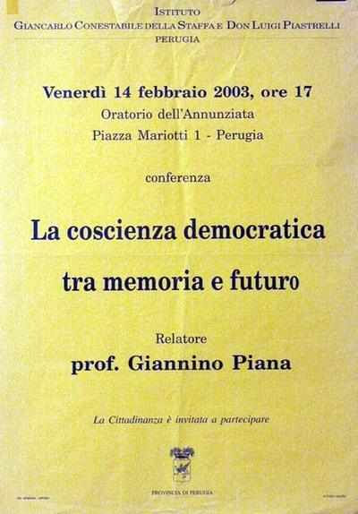 La coscienza democratica tra memoria e futuro
