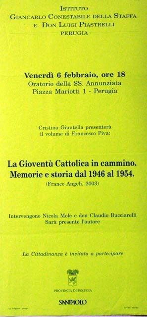 La Gioventà cattolica in cammino. Memorie e storia dal 1946 al 1954