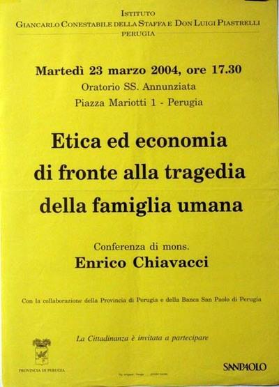 Etica ed economia di fronte alla tragedia della famiglia umana