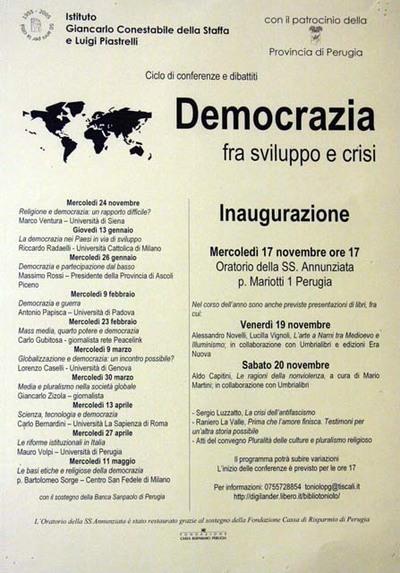 Democrazia tra sviluppo e crisi
