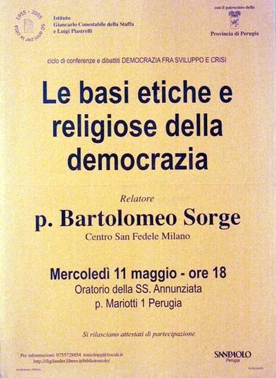 Le basi etiche e religiose della democrazia