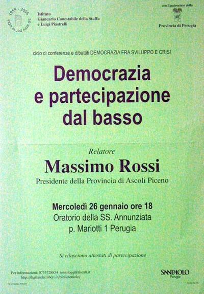 Democrazia e partecipazione dal basso