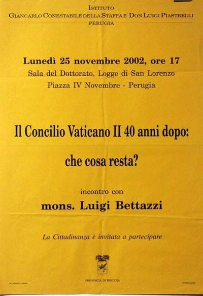 IL Concilio Vaticano II 40 anni dopo: che cosa resta?