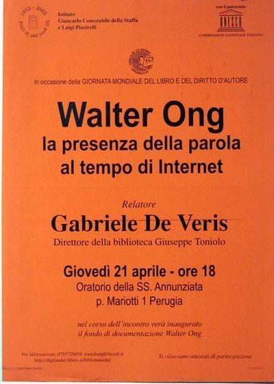 Walter Ong: la presenza della parola al tempo di internet