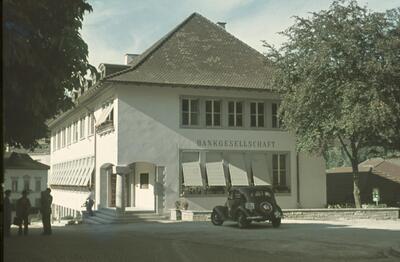 Fotografie | Liestal, Bahnhofstrasse, Bankgesellschaft Neubau