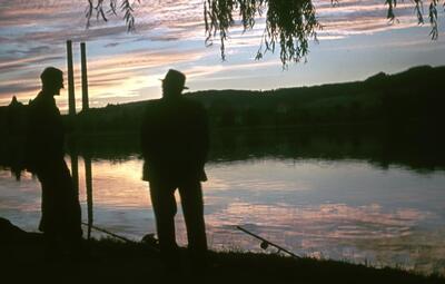 Fotografie   Augst, Abendstimmung am Rhein