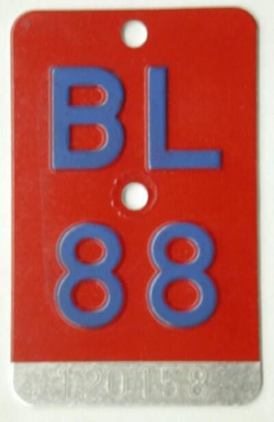 Velonummer, BL 1988