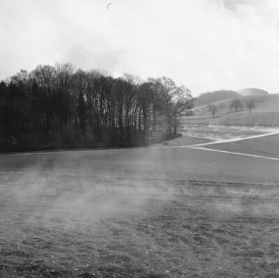 Fotografie   Muttenz, Wartenberg, der weisse Nebel steigt
