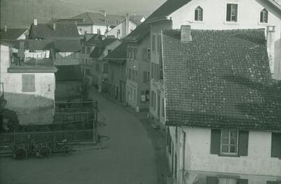 Fotografie   Liestal, ehemalige Schwieristrasse, heute Parkplatz