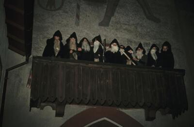 Fotografie | Liestal, Santichläuse (Nikolaus) auf dem Törlibalkon