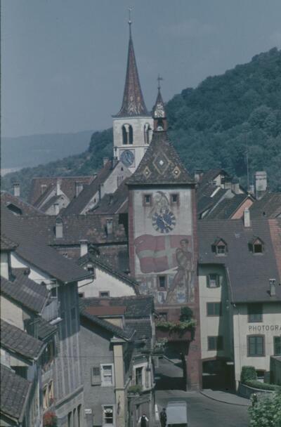 Liestal, Obertor (Törli) von auf Burg aus