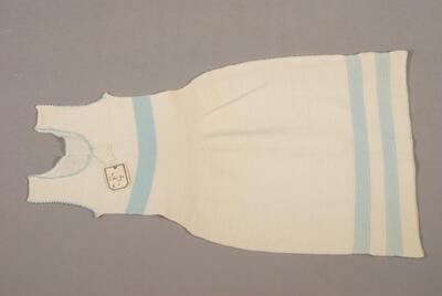 Kleid, rohweiss mit blauen Streifen, für Kinder
