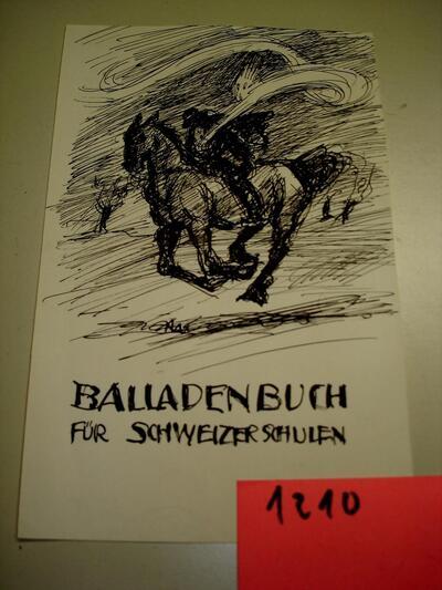 Bild: Tuschezeichnung | Illustration - Deckblatt zu Balladenbuch für Schweizer Schulen