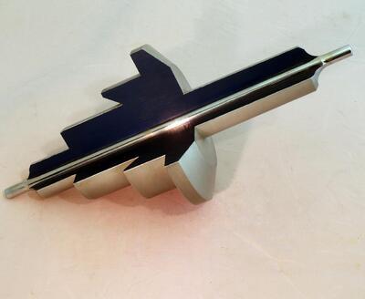 Modell: Pivot (Zapfen) einer Achse