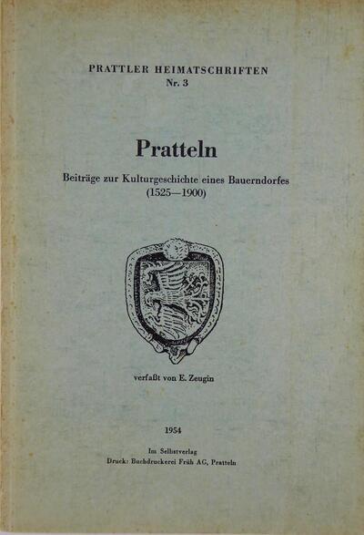 Prattler Heimatschriften Nr.3