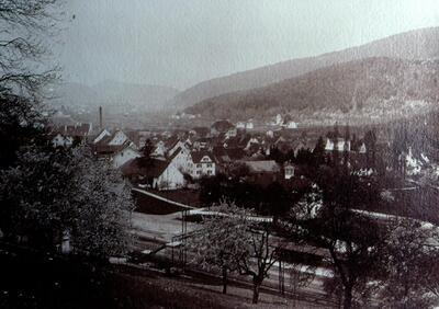 Fotografie (Dia) | Lausen: Dorfansicht 1921
