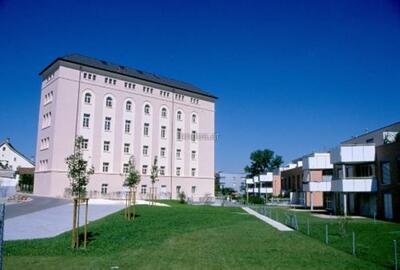 Fotografie (Dia)   Überbauung Mühlepark