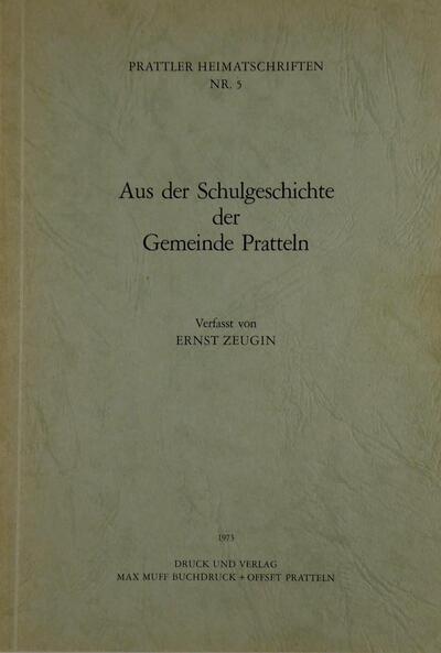 Prattler Heimatschriften Nr.5