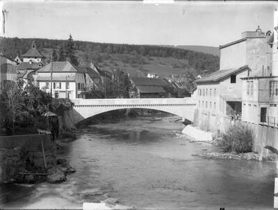 Neue Birsbrücke Laufen, 1929