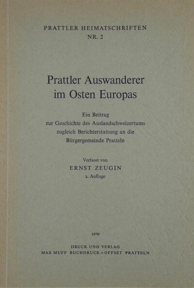 Prattler Heimatschriften Nr.2