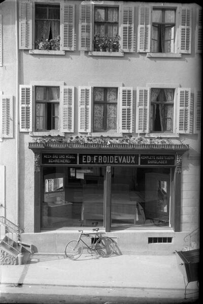 Schreinerei und Sarglager Ed.Froidevaux (Delsbergerstrasse)