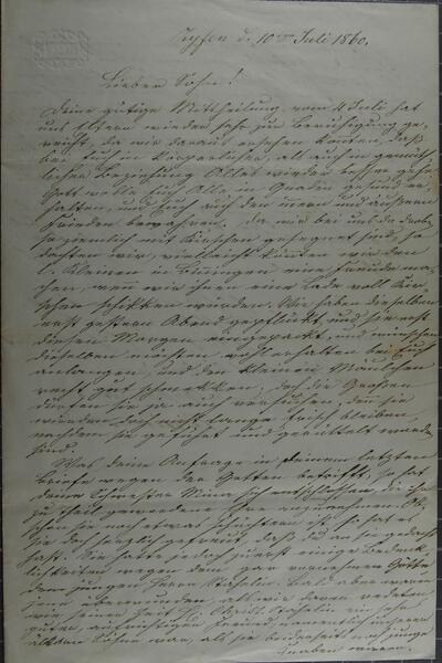 Brief 10.07.1860